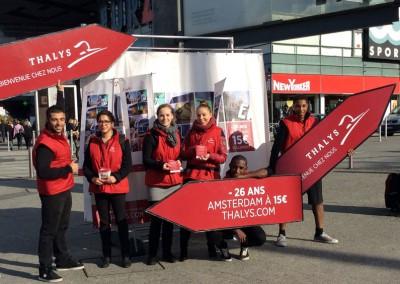 Event flyering Thalys 2014